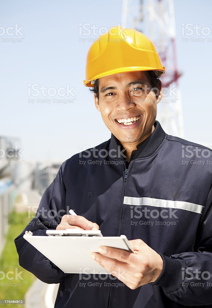 Portrait of industrial engineer royalty-free stock photo