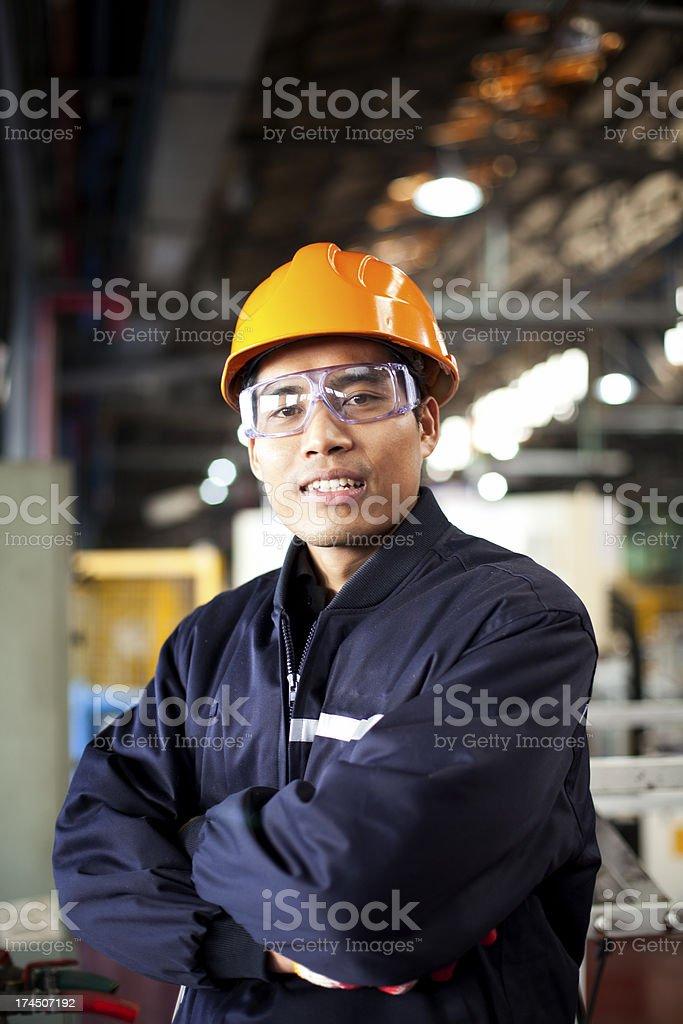 Porträt von industriellen engineer Lizenzfreies stock-foto