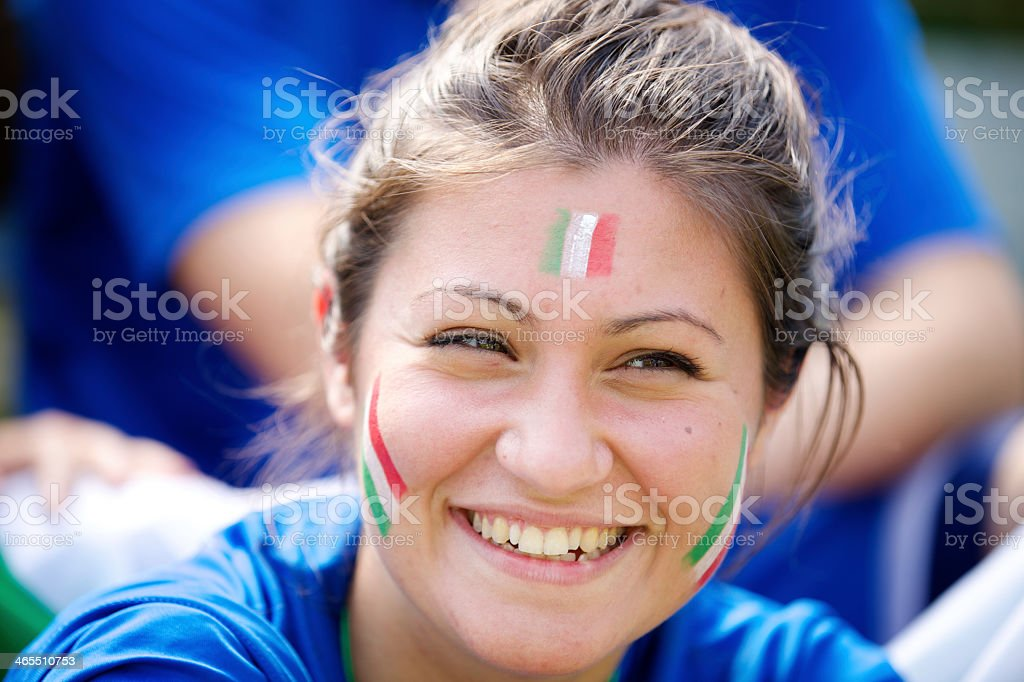 Portrait of italian fan royalty-free stock photo