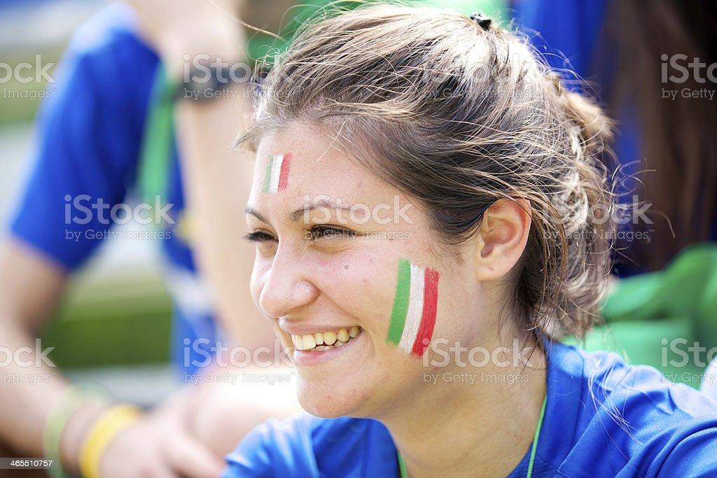 Portrait of italian fan stock photo