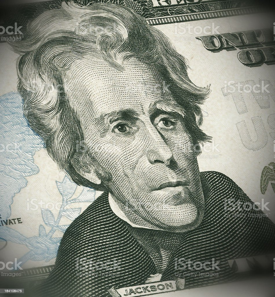Portrait of Jackson ($20) royalty-free stock photo