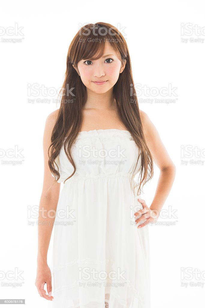 Portrait of Japanese woman stock photo