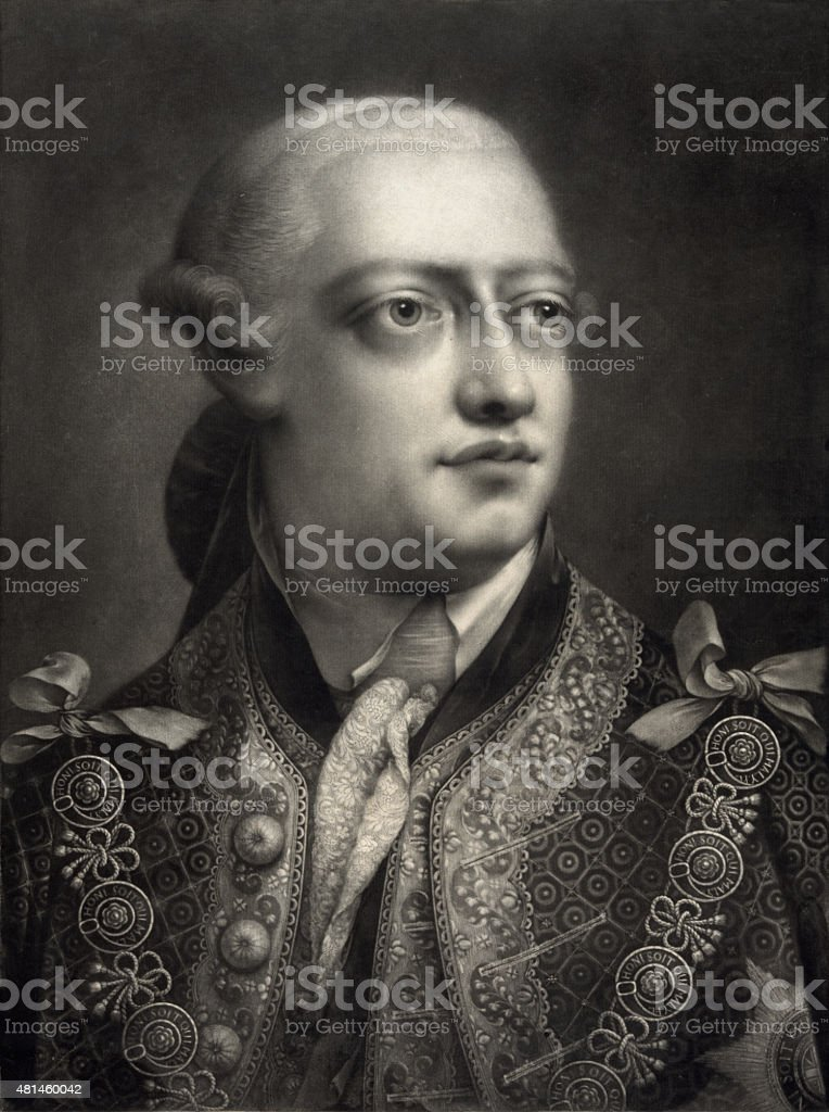 Portrait of King George III stock photo