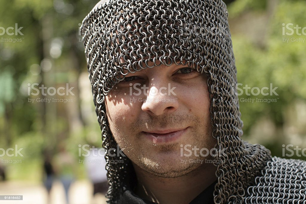 Portrait of knight royalty-free stock photo