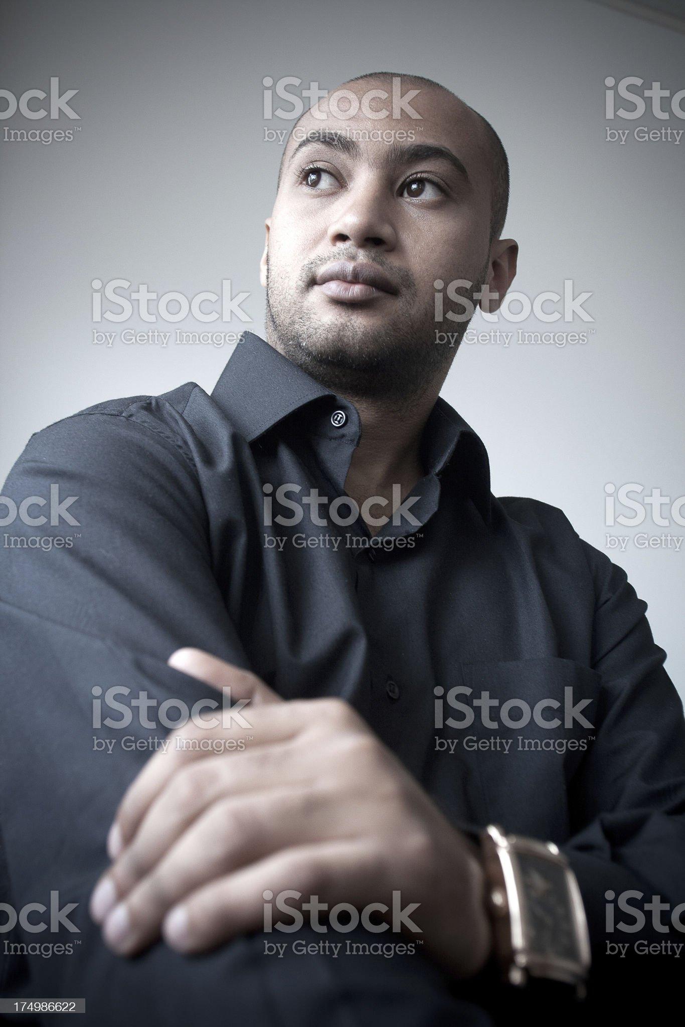 Portrait of Kuwaiti man royalty-free stock photo