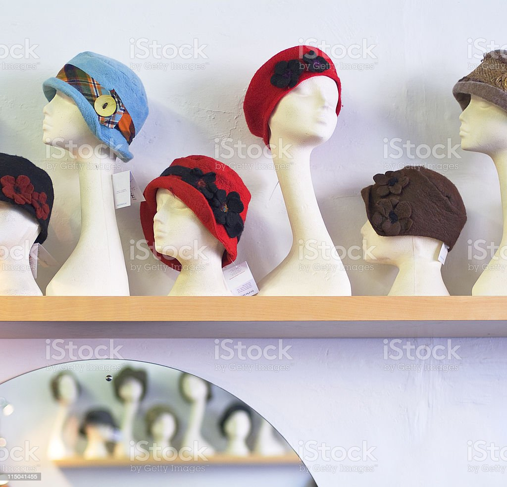 Portrait of ladies - head mannequin stock photo