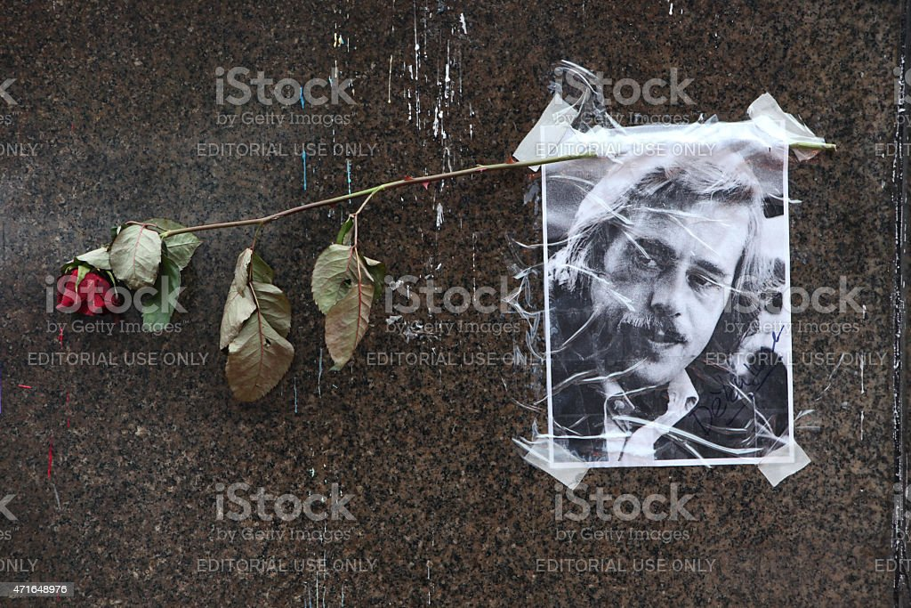 Portrait of late Czech president Vaclav Havel stock photo