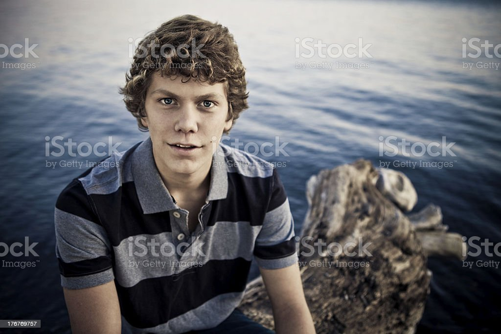 Portrait of Late Teen Boy stock photo