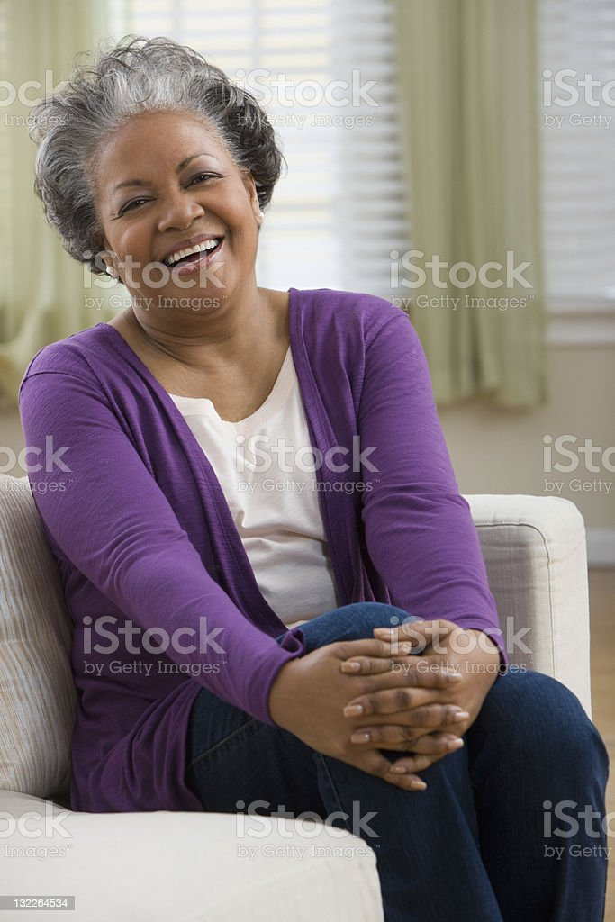 Portrait of laughing woman royalty-free stock photo