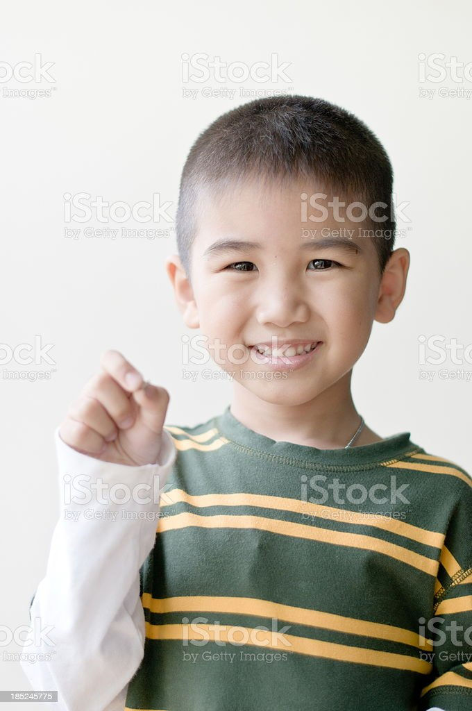 Portrait of little asian boy royalty-free stock photo