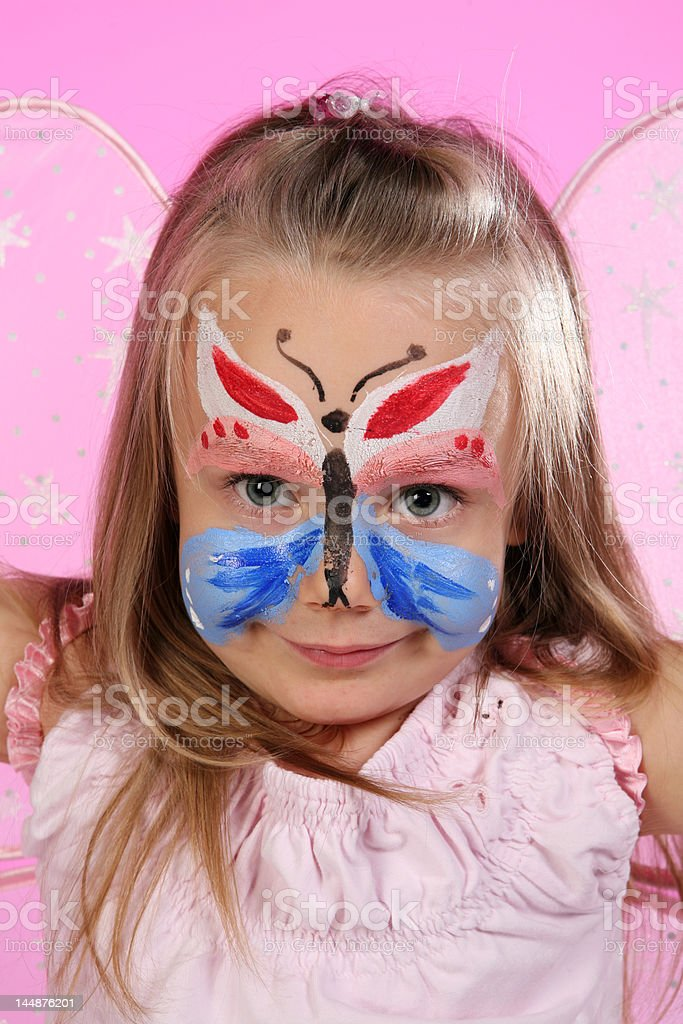 Portrait of little butterfly royalty-free stock photo