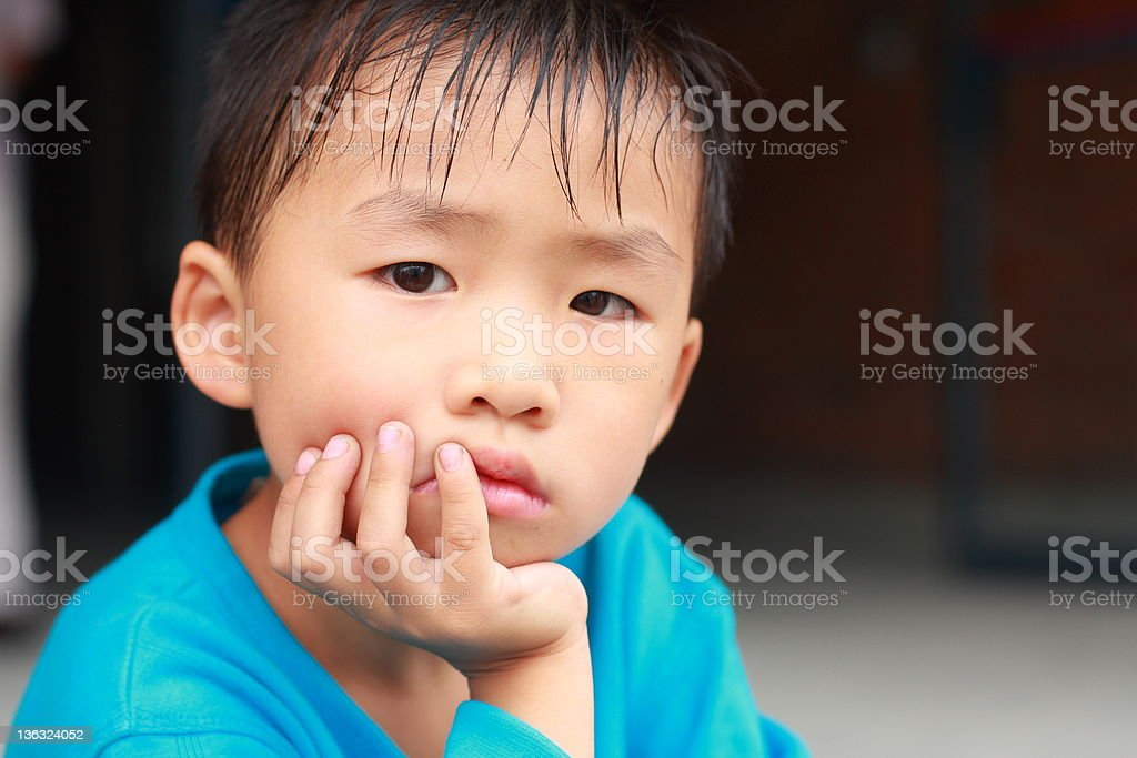 portrait of little chinese boy royalty-free stock photo