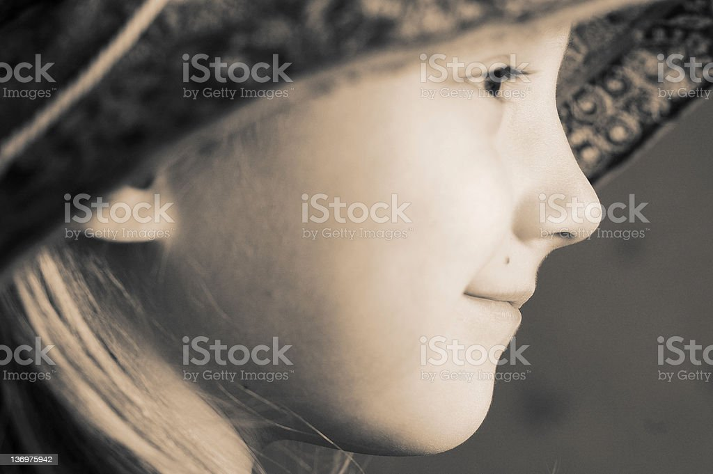 Portrait of little girl royalty-free stock photo