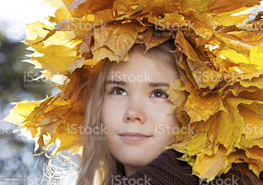 Portrait of little girl royalty-free stock photo