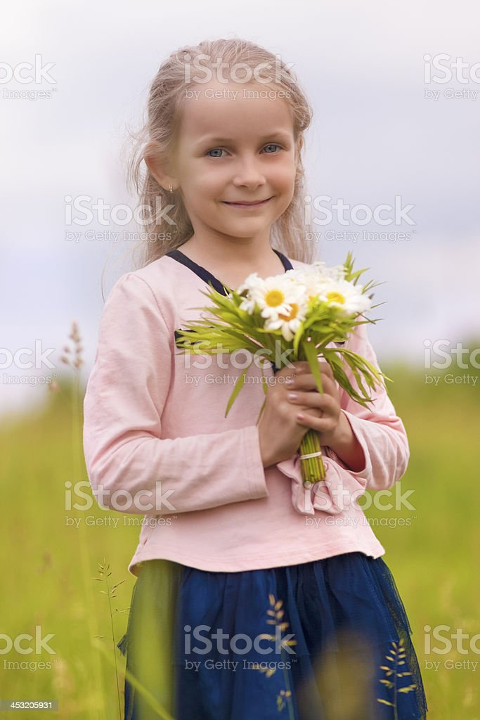 portrait of little smiling blond royalty-free stock photo