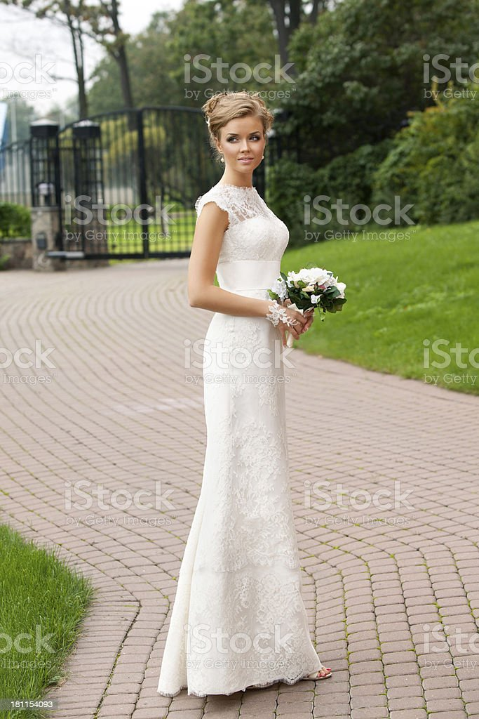 Portrait of  lovely bride royalty-free stock photo