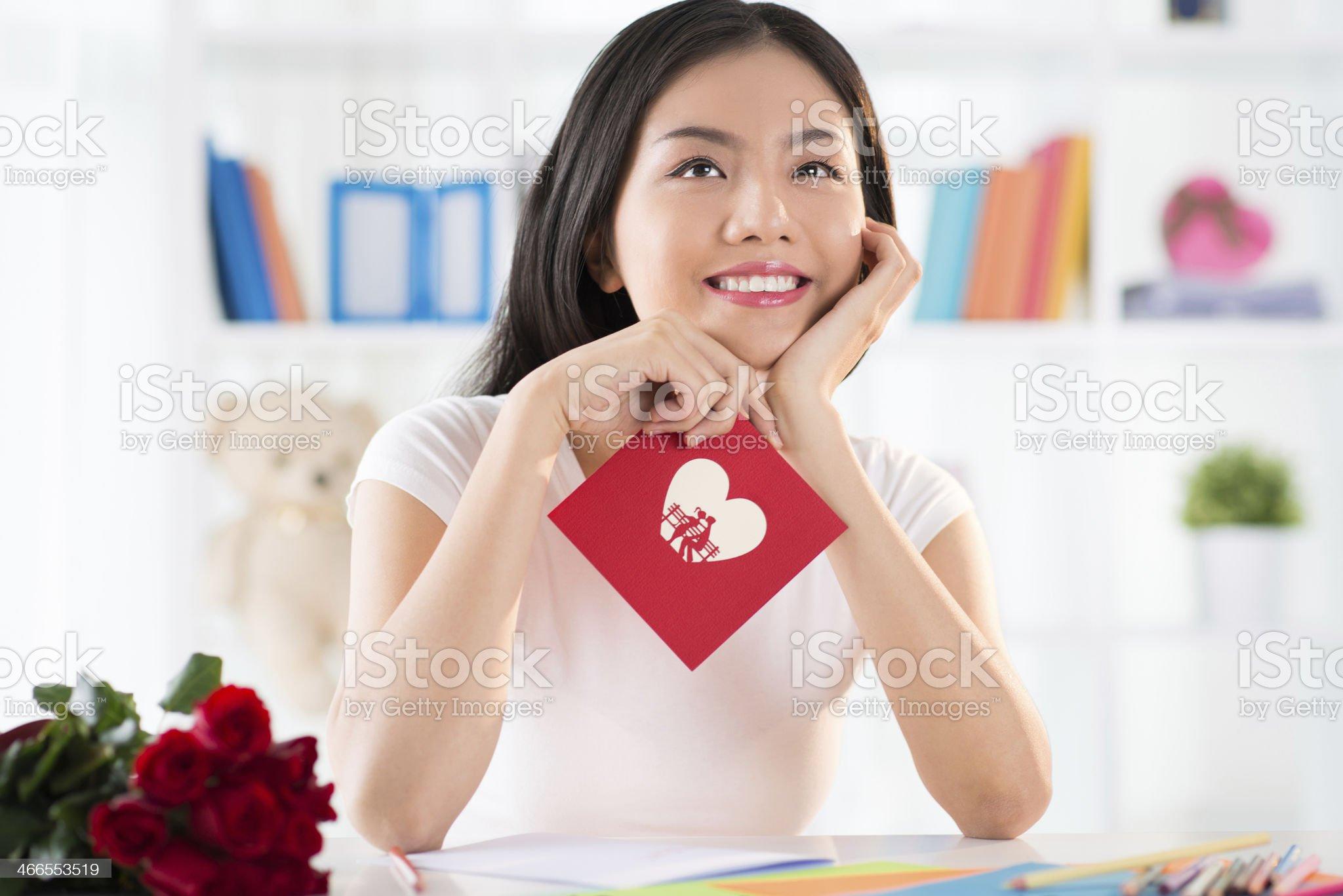 Portrait of loving girl royalty-free stock photo