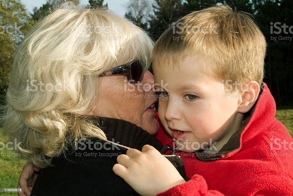 portrait of loving grandmother and grandchild royalty-free stock photo