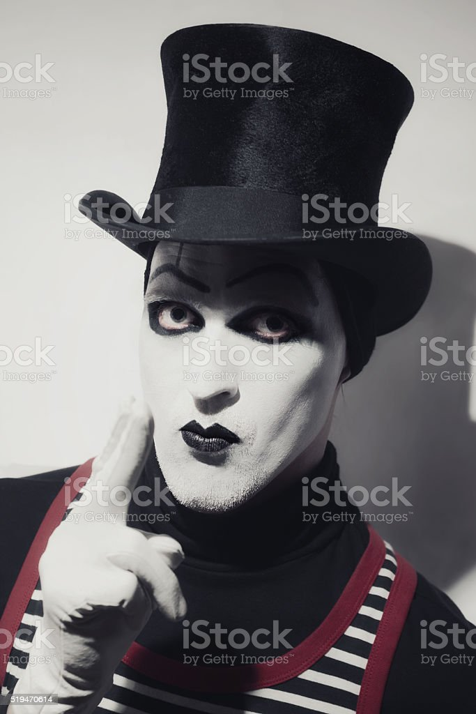 Portrait of mad hatter stock photo