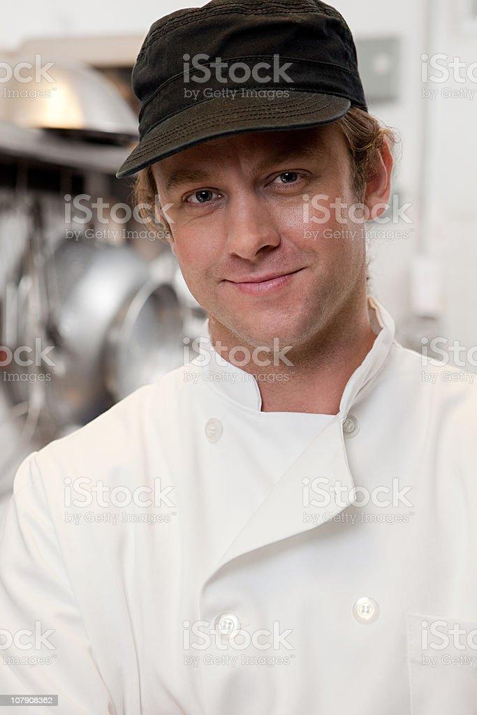 Portrait of male chef stock photo