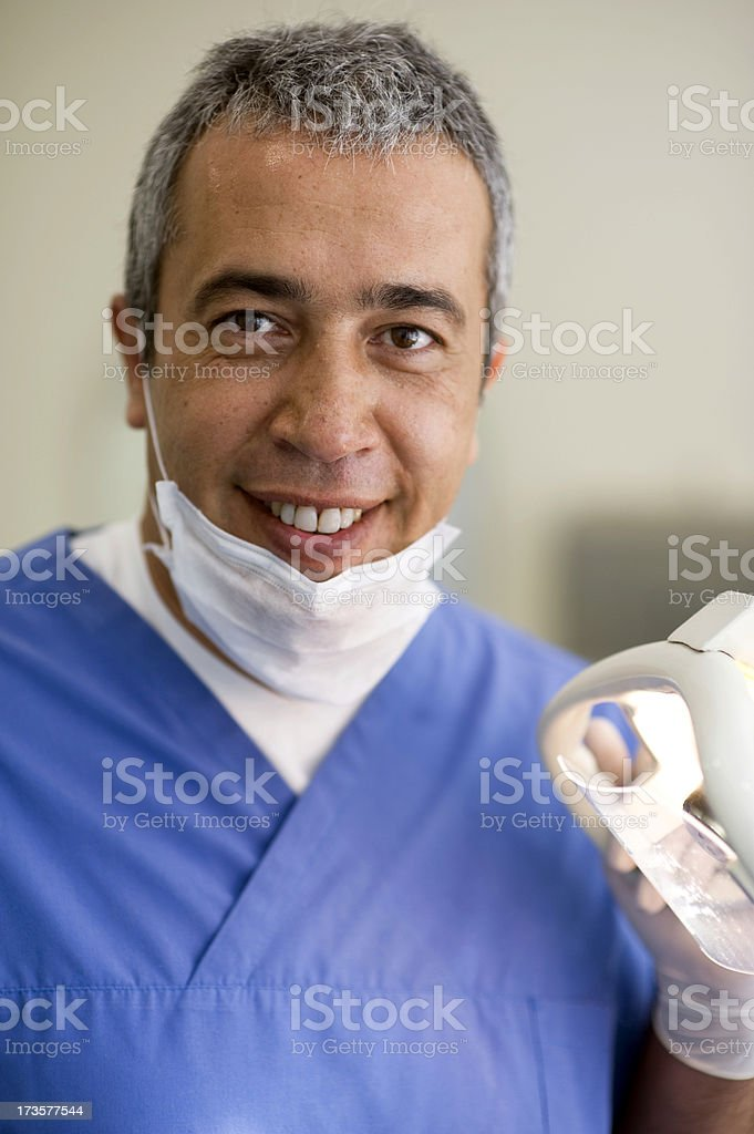 Portrait of male dentist wearing a surgical mask royalty-free stock photo