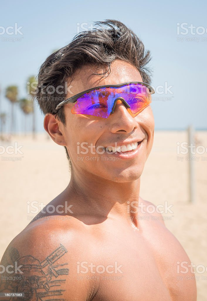 Portrait of Man at the beach royalty-free stock photo