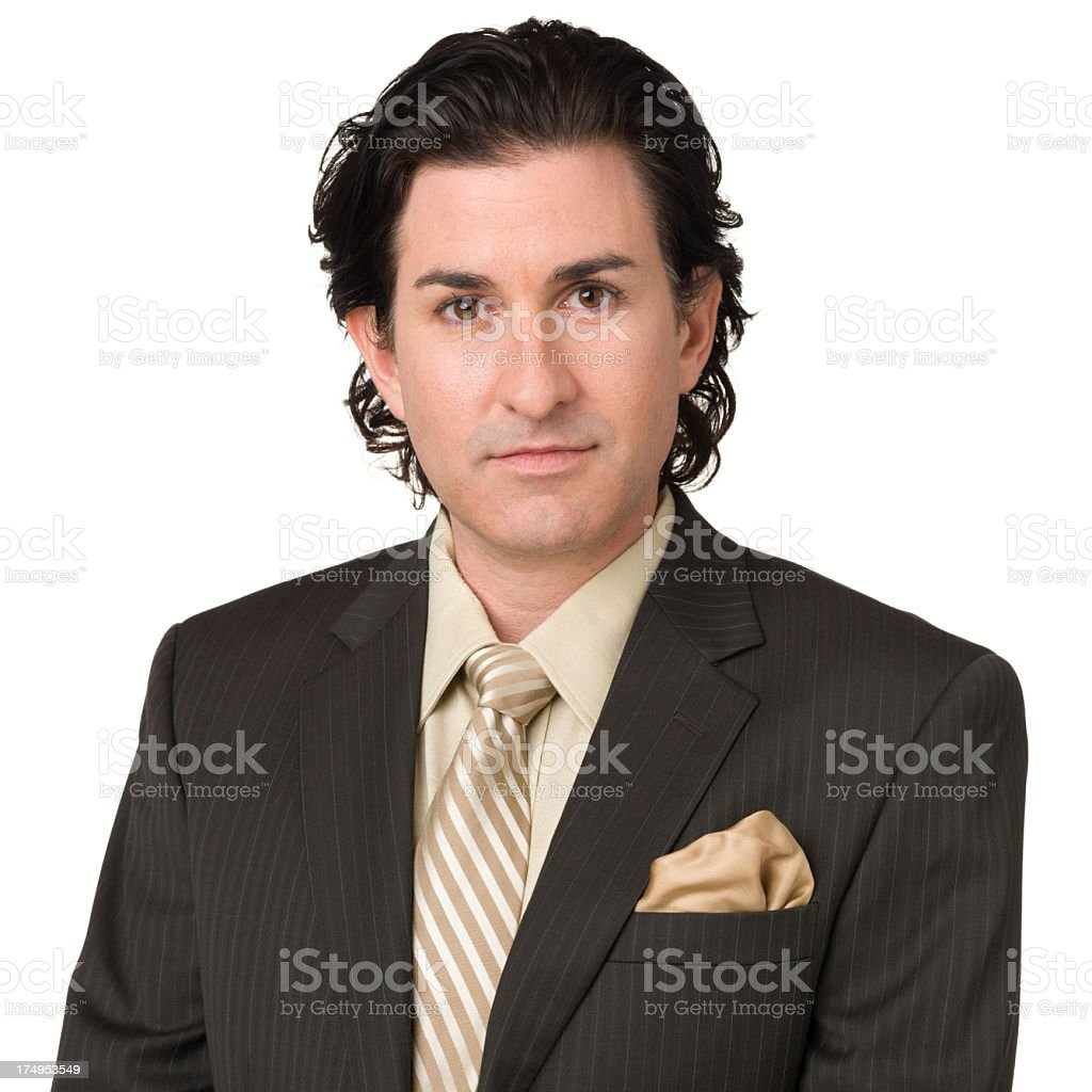 Portrait of Man In Suit And Tie royalty-free stock photo