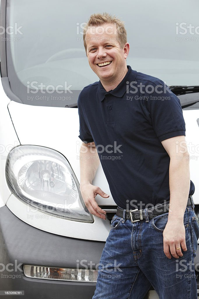 Portrait Of Man With A Van royalty-free stock photo