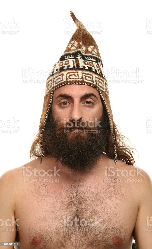 portrait of man with hat royalty-free stock photo
