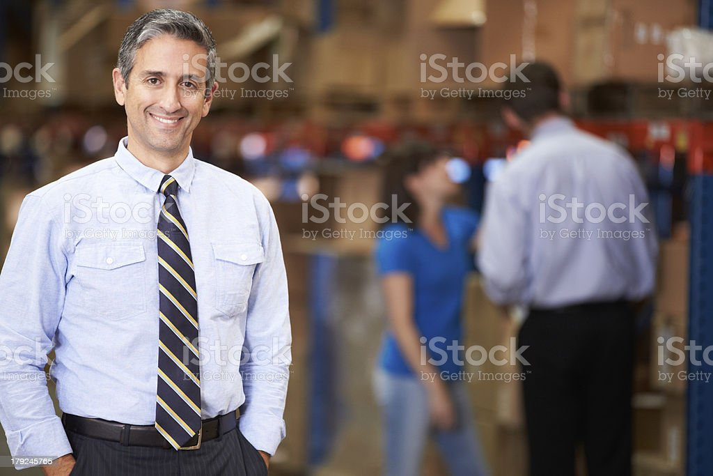 Portrait Of Manager In Warehouse royalty-free stock photo