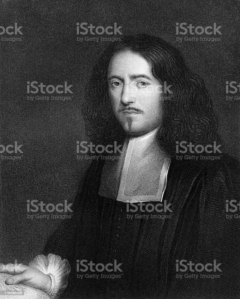 Portrait of Marcello Malpighi stock photo