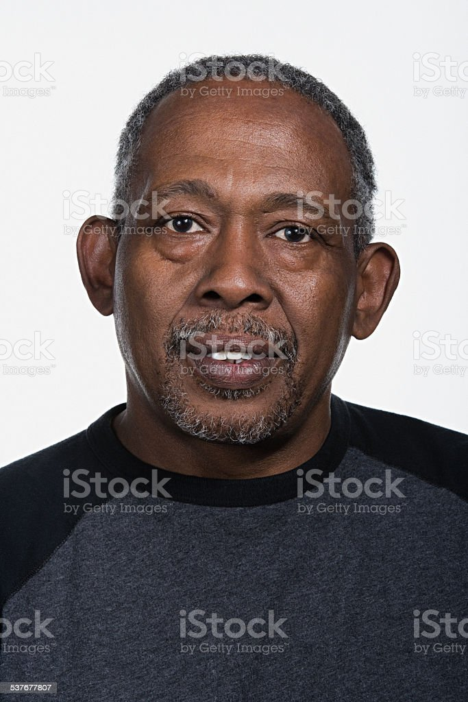 Portrait of mature african american man stock photo
