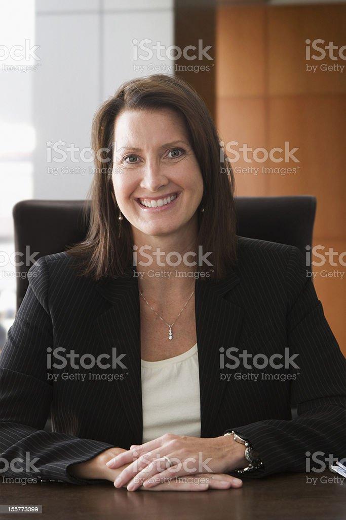 Portrait of mature businesswoman royalty-free stock photo