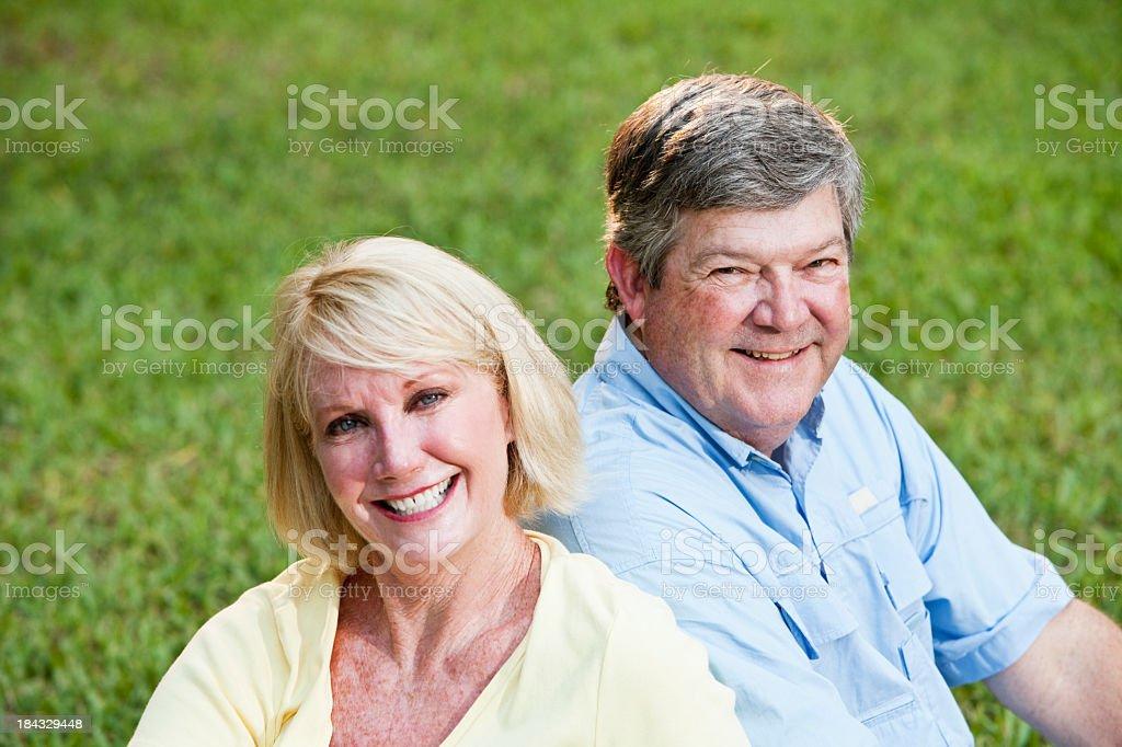 Portrait of mature couple stock photo