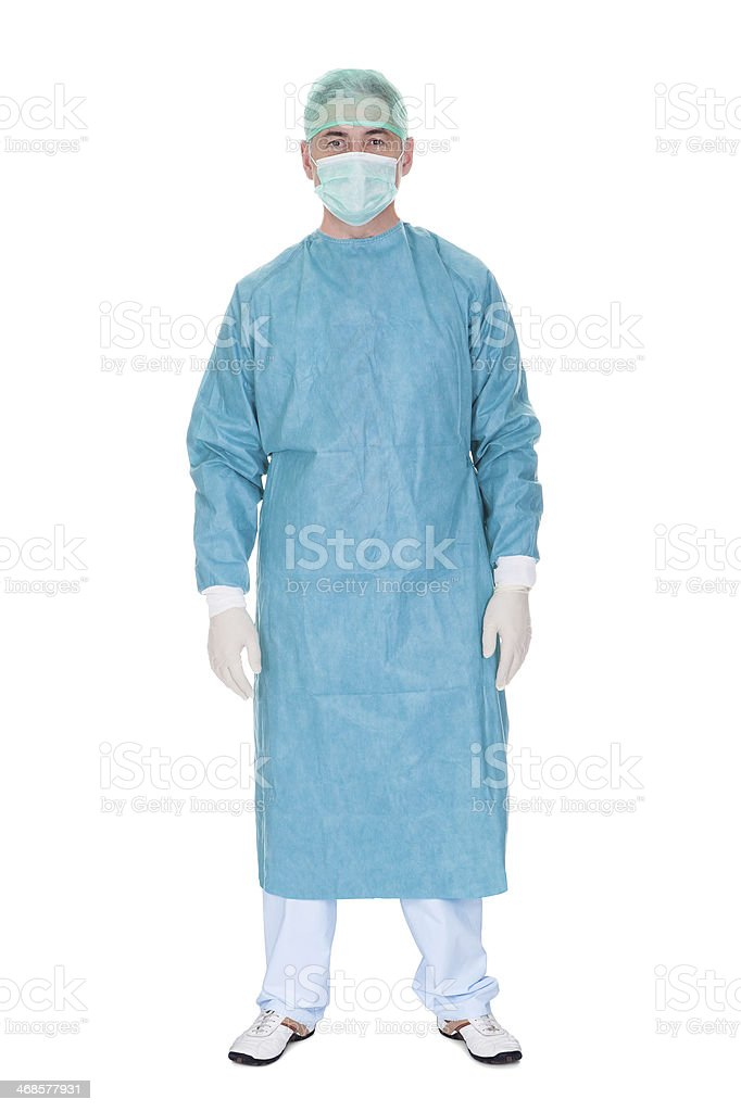 Portrait Of Mature Male Surgeon stock photo