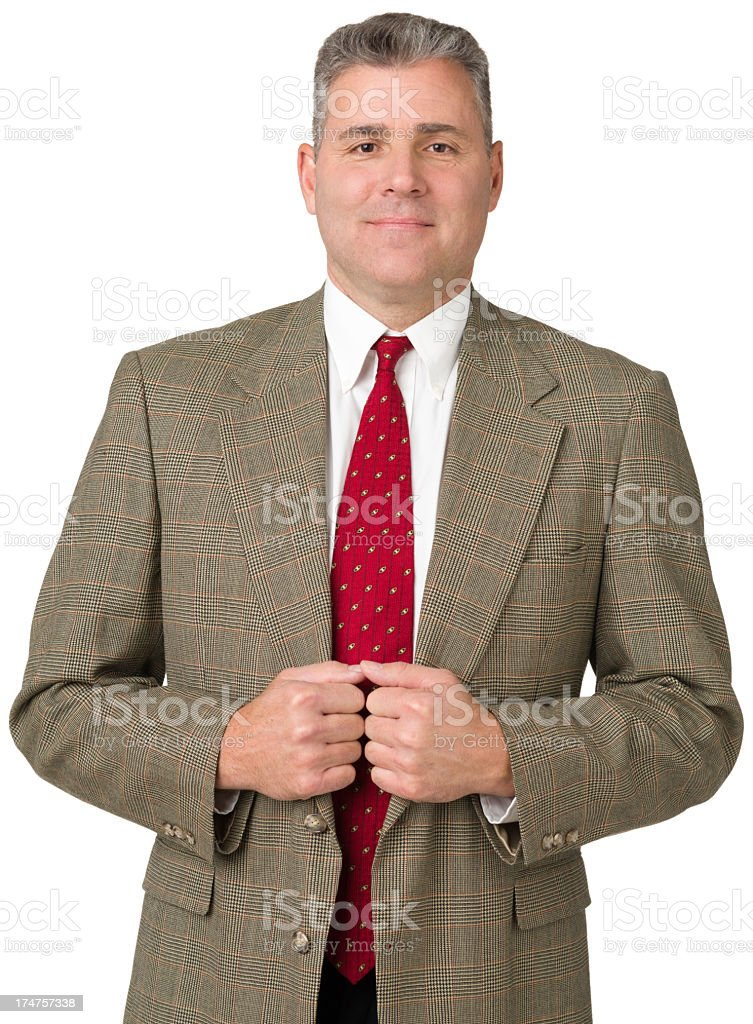 Portrait Of Mature Man Looking At Camera royalty-free stock photo