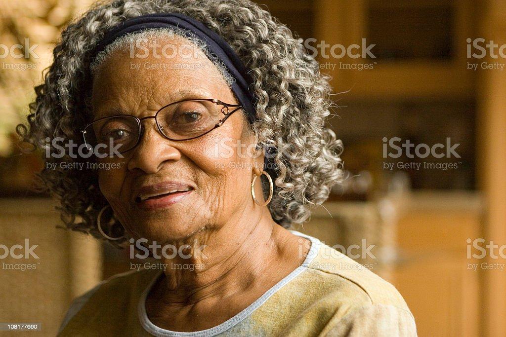 Portrait of Mature Senior Woman royalty-free stock photo