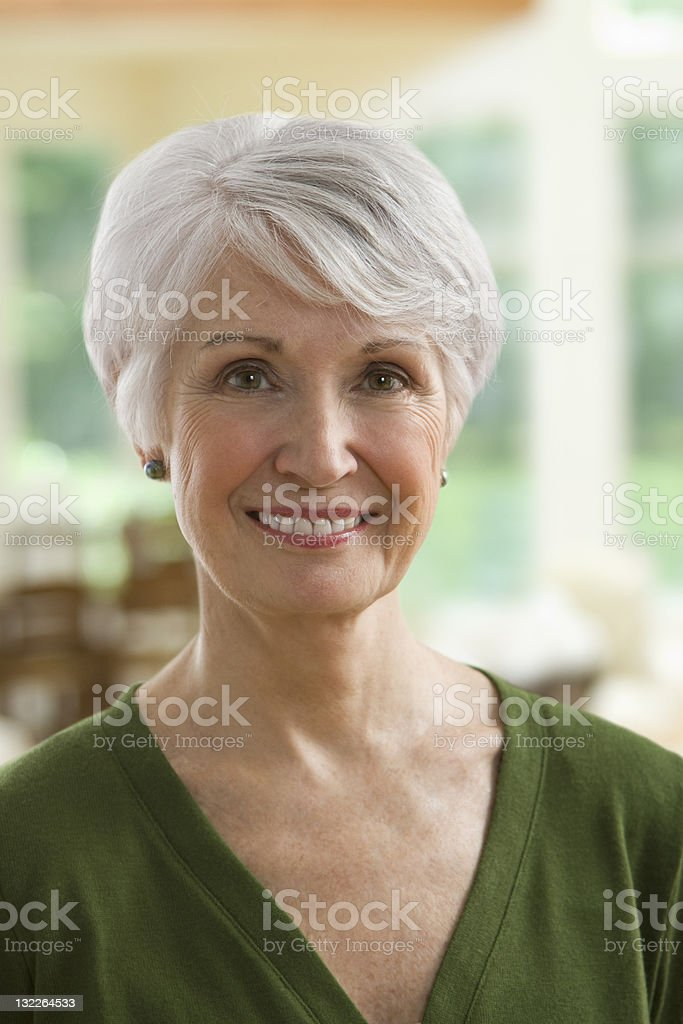 Portrait of mature woman royalty-free stock photo