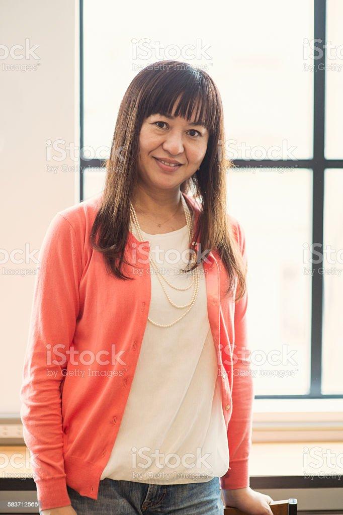 Portrait of Mature Women stock photo
