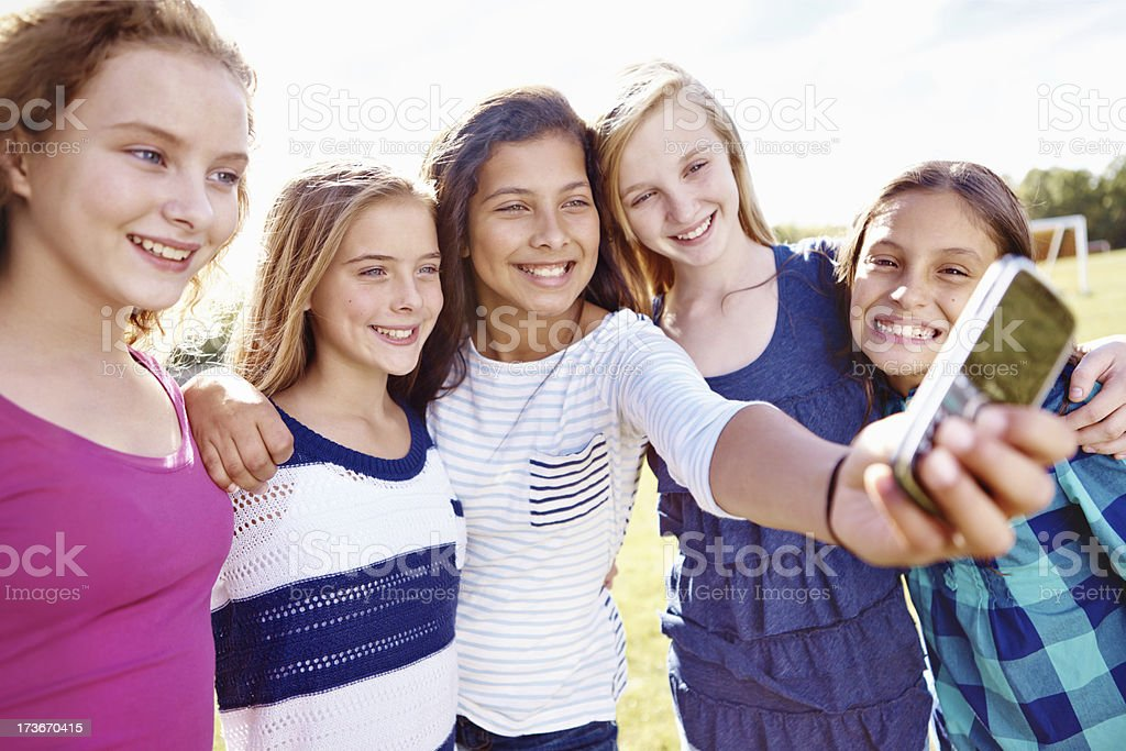 Portrait of me and my besties! royalty-free stock photo