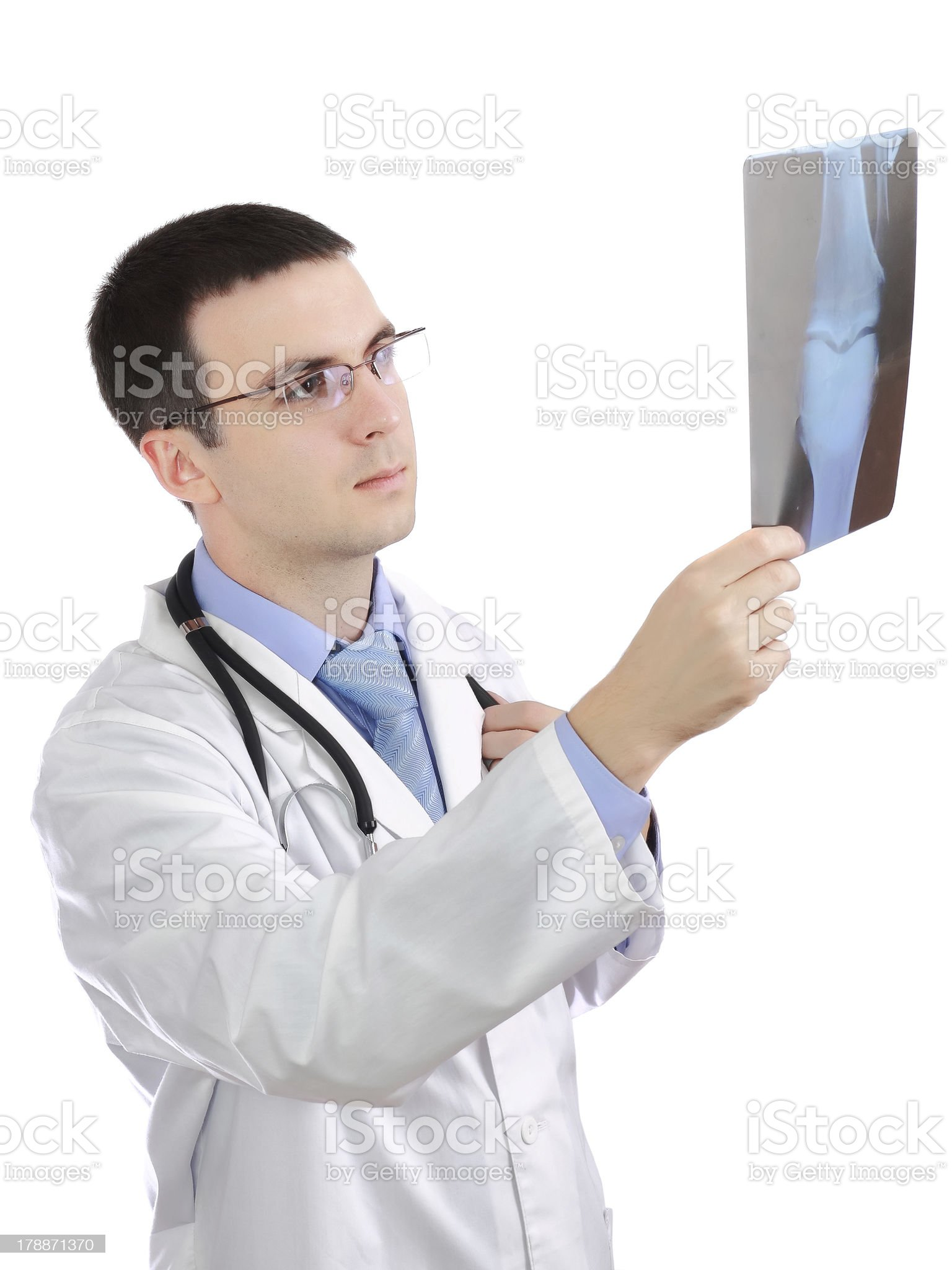 Portrait of medical doctor with a x-ray image. royalty-free stock photo
