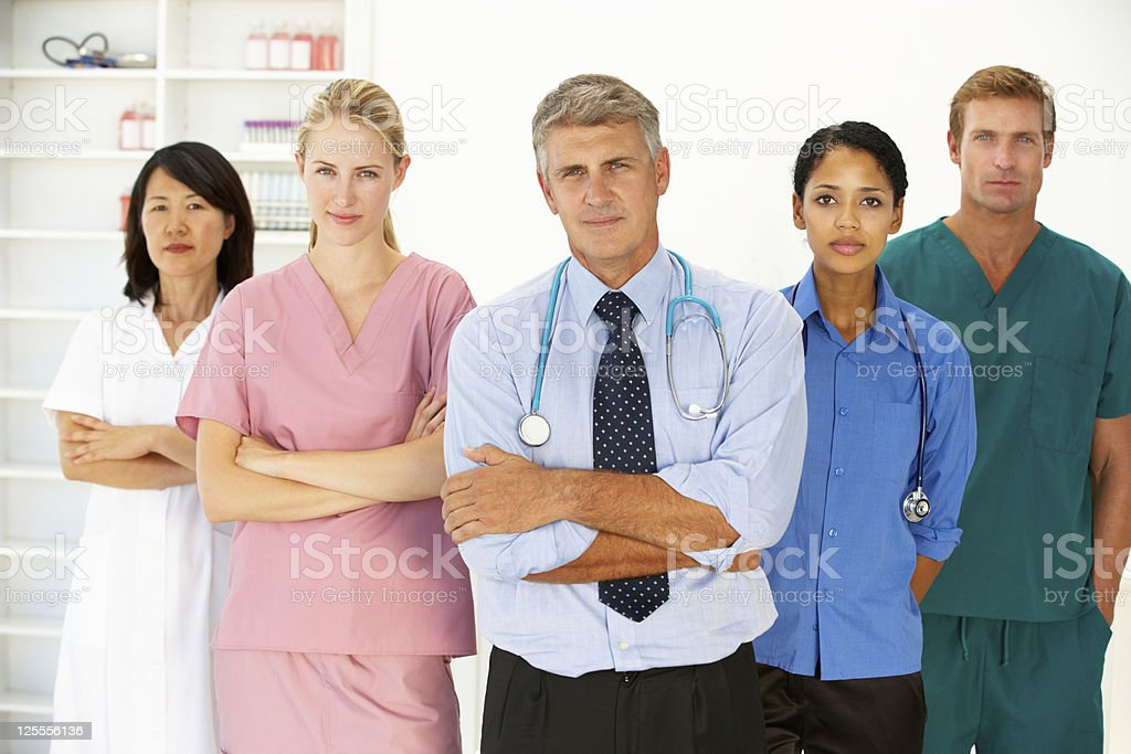 Portrait of medical professionals royalty-free stock photo