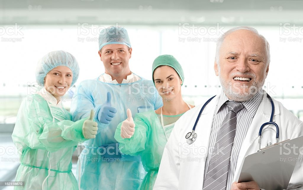 Portrait of medical professor and team royalty-free stock photo
