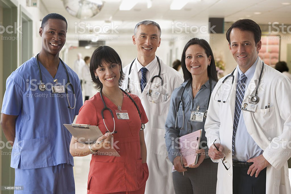 Portrait of Medical Staff stock photo