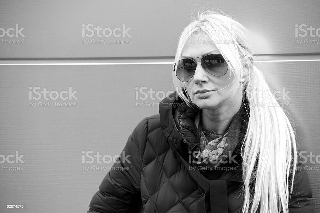 Portrait of mid adult woman royalty-free stock photo