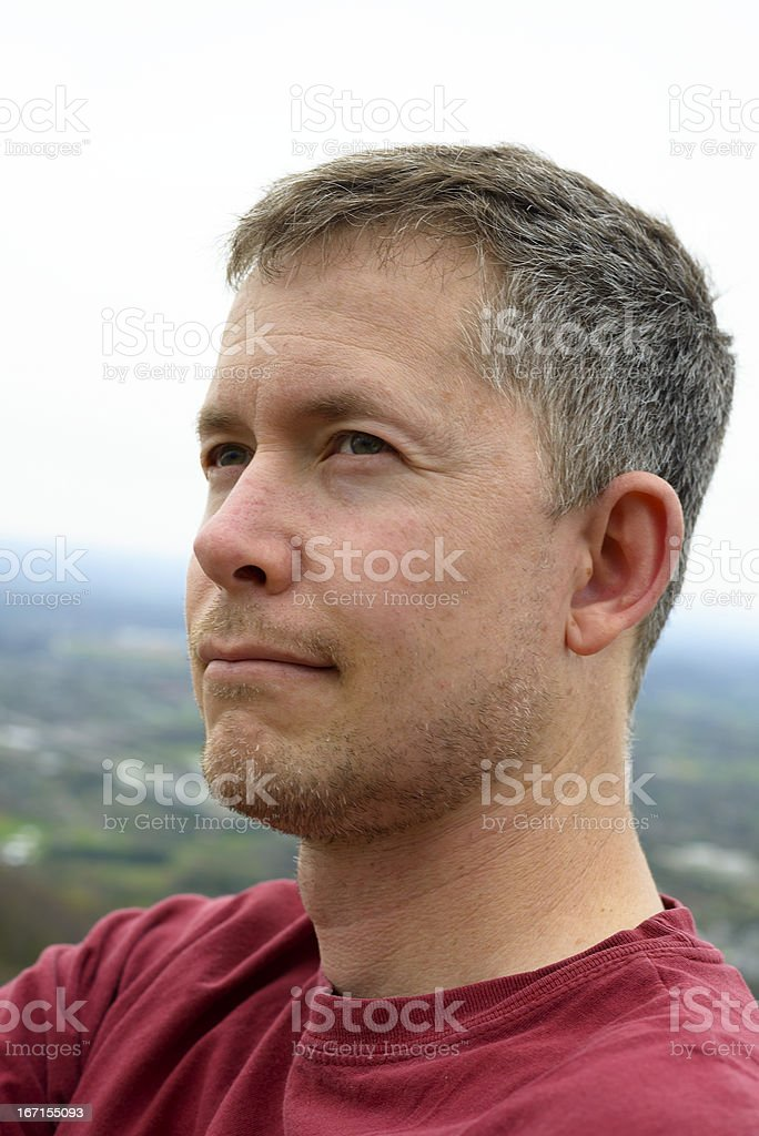 Portrait of mid-adult man outdoors royalty-free stock photo