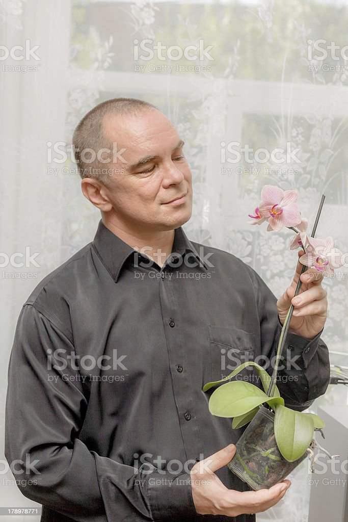 portrait of middle aged man royalty-free stock photo