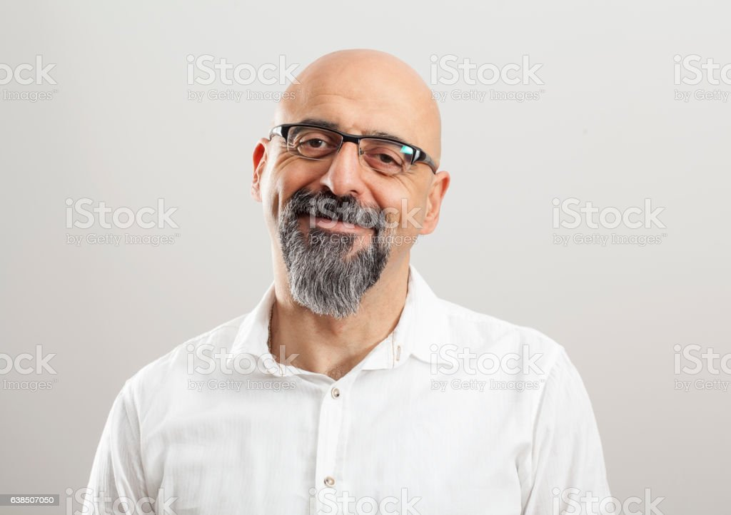 Portrait of middle aged man stock photo