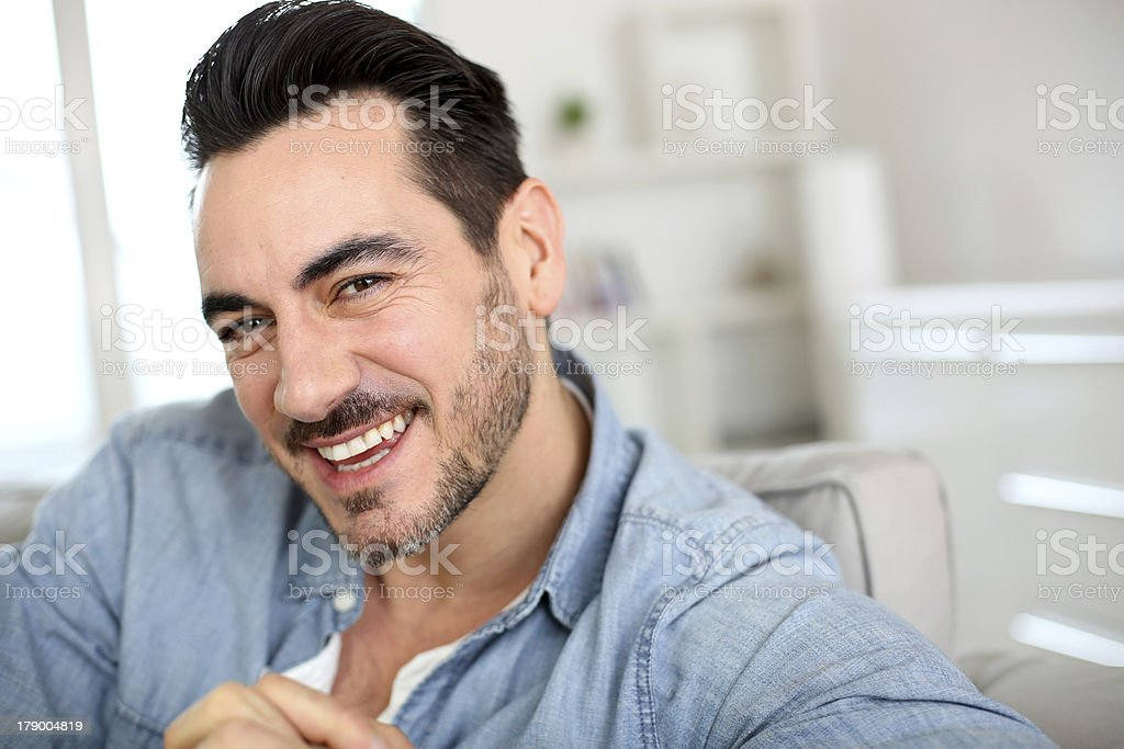 Portrait of middle aged man smiling royalty-free stock photo
