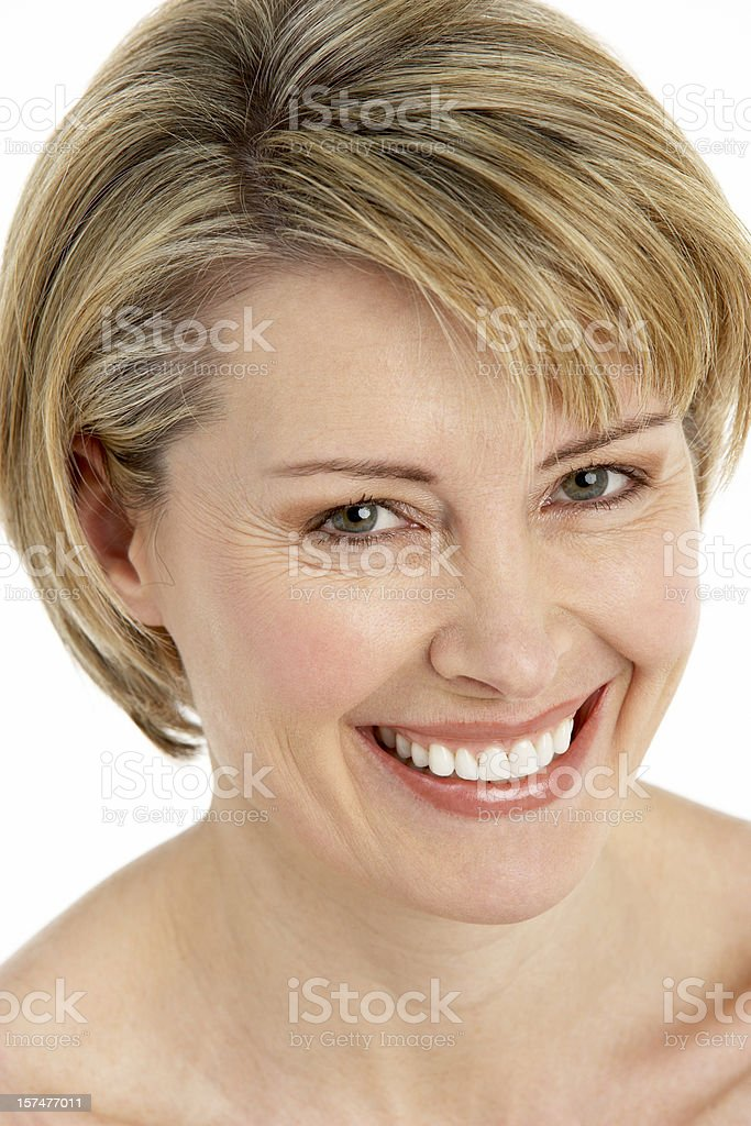 Portrait Of Middle Aged Woman royalty-free stock photo